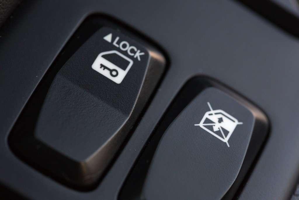 Power Door Locks Switch in a Modern Car