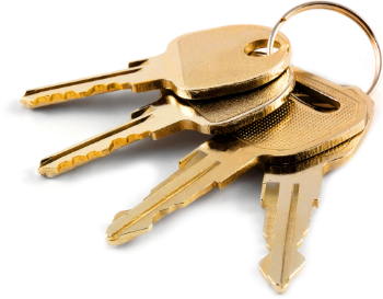 House keys on a ring